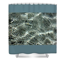 Shower Curtain featuring the digital art Painted Water by Ellen Barron O'Reilly