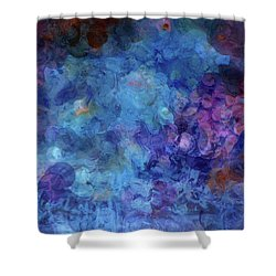 Blue Grotto Painting  Shower Curtain