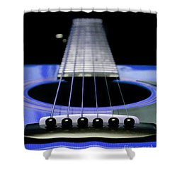 Blue Guitar 14 Shower Curtain by Andee Design