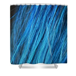 Shower Curtain featuring the photograph Blue Hair by Marianna Mills