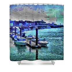Blue Harbour Shower Curtain