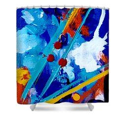 Blue Harmony  #128 Shower Curtain by Donald k Hall