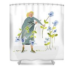 Blue Harvest Shower Curtain