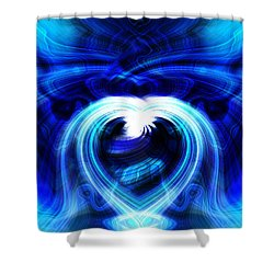 Blue Heart On Stage Shower Curtain