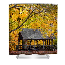 Blue Heron Park In The Fall 2 Shower Curtain