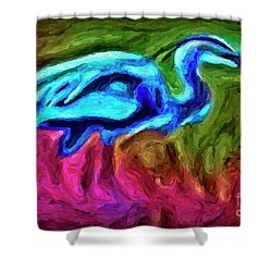 Shower Curtain featuring the photograph Blue Heron by Walt Foegelle