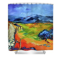 Blue Hills By Elise Palmigiani Shower Curtain