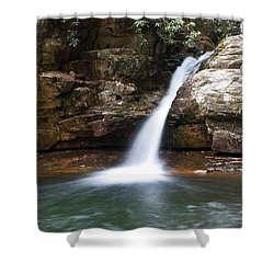 Blue Hole In Spring #1 Shower Curtain by Jeff Severson