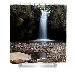 Shower Curtain featuring the photograph Blue Hole In Spring #2 by Jeff Severson