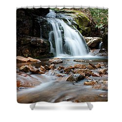 Shower Curtain featuring the photograph Blue Hole In Spring #3 by Jeff Severson