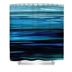 Blue Horrizon Shower Curtain