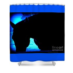 Blue Horse Shower Curtain