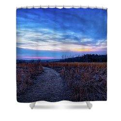 Blue Hour After Sunset At Retzer Nature Center Shower Curtain by Jennifer Rondinelli Reilly - Fine Art Photography