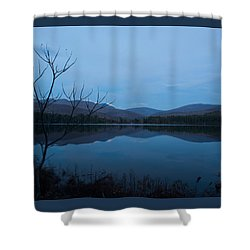 Blue Hour At Cooper Lake Shower Curtain by Nancy De Flon