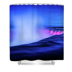 Blue Hour At Niagara Falls Shower Curtain