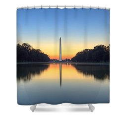 Blue Hour At The Mall Shower Curtain