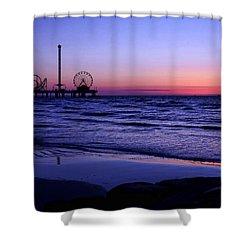 Blue Hour In Galveston Shower Curtain