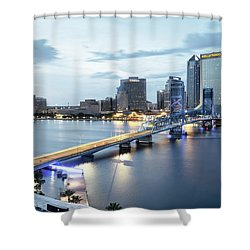Blue Hour In Jacksonville Shower Curtain