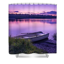 Shower Curtain featuring the photograph Blue Hour On The Vistula River by Dmytro Korol