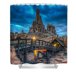 Blue Hour Over Big Thunder Mountain Shower Curtain