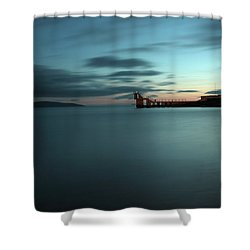 Blue Hour Salthill Shower Curtain