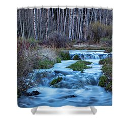 Blue Hour Streaming Shower Curtain by James BO Insogna