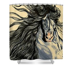 Blue Ice - Mustang Shower Curtain