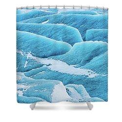 Shower Curtain featuring the photograph Blue Ice Svinafellsjokull Glacier Iceland by Matthias Hauser