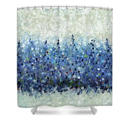 Blue Intensity Shower Curtain