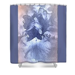 Blue Iris Abstract Shower Curtain
