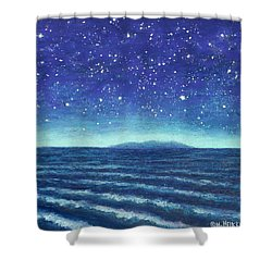Blue Island 01 Shower Curtain