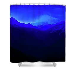 Shower Curtain featuring the photograph Blue by John Poon