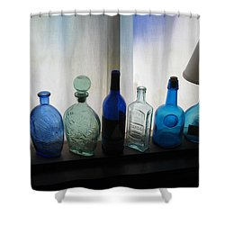 Blue Shower Curtain by John Scates