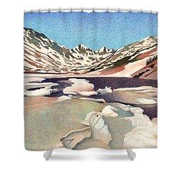 Blue Lakes Colorado Shower Curtain