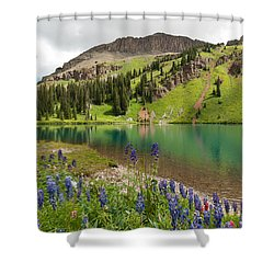 Shower Curtain featuring the photograph Blue Lakes Summer Splendor by Cascade Colors