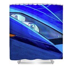 Blue Lamboghini Shower Curtain