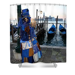 Blue Lips At Sunrise Shower Curtain by Donna Corless
