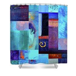 Shower Curtain featuring the digital art Blue Love by Nancy Merkle