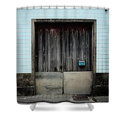 Shower Curtain featuring the photograph Blue Mailbox by Marco Oliveira