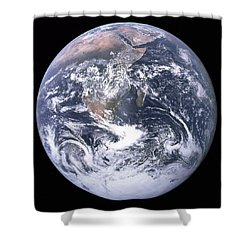 Blue Marble - Image Of The Earth From Apollo 17 Shower Curtain