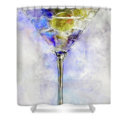 Blue Martini Shower Curtain by Jon Neidert