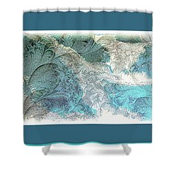 Shower Curtain featuring the photograph Blue Maze by Athala Carole Bruckner