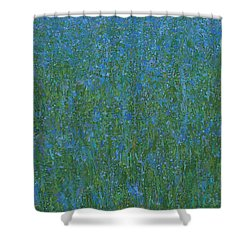 Blue Meadow 1 Shower Curtain