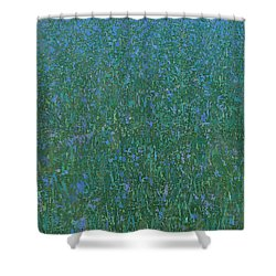 Blue Meadow 2 Shower Curtain by Steve Mitchell