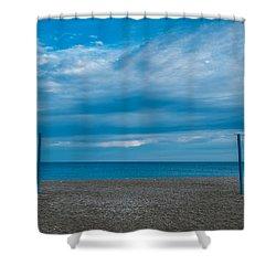 Blue Med Shower Curtain