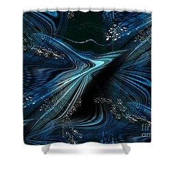 Shower Curtain featuring the digital art Blue Meditation by Yul Olaivar