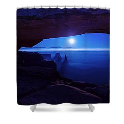 Blue Mesa Arch Shower Curtain by Chad Dutson