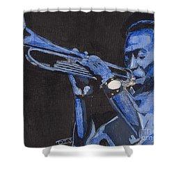 Blue Miles Shower Curtain