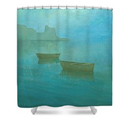 Blue Mist At Erbalunga Shower Curtain
