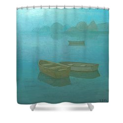 Blue Mist Shower Curtain by Steve Mitchell
